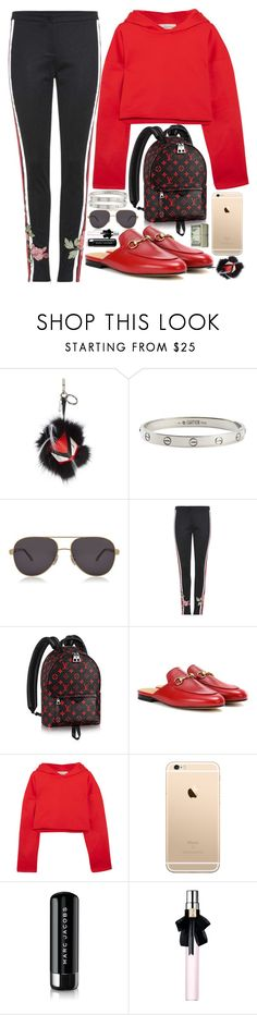 """""""CHILL VIBES"""" by kueenly ❤ liked on Polyvore featuring Fendi, Cartier, Chopard, Gucci, Golden Goose, Marc Jacobs and Yves Saint Laurent"""