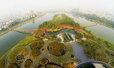 An Exclusive review of Yanweizhou Park by Turenscape, in Jinhua City, Zhejiang Province, China.
