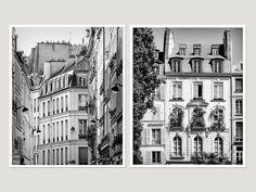Black and white Paris large Wall art set of 2 by RivuletPhotography Fine art prints — http://etsy.me/2fUIoF3 #paris #setofprints #wallart #photography #blackandwhite #prints #buyonline #architecture