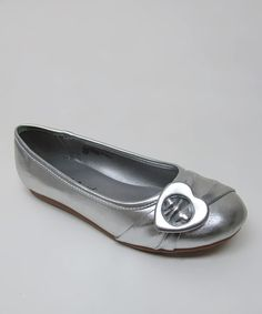 Take a look at this Silver Seren-626 Ballet Flat by Little Angel on #zulily today!
