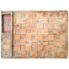 Folk Art Carved Game Board from Kennebunkport Maine | From a unique collection of antique and modern game boards at https://www.1stdibs.com/furniture/folk-art/game-boards/