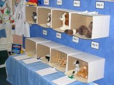 we are learning about animals. In our role-play we are pretending to be vets and nurses. We have been pretending to look after animals brought into the vets by putting bandages and giving medicine to them. We are also learning about how to look after anim Dramatic Play Area, Dramatic Play Centers, Play Corner, Prop Box, Pet Vet, Vet Clinics, Play Based Learning, Play Centre, Creative Play
