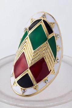 KocoSky - Large Aztec Ring, $12.00 (http://www.kocosky.com/large-aztec-ring/)