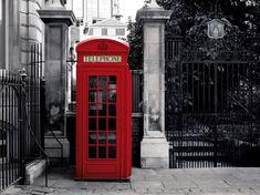 Londýn - červená telefonní budka fototapeta na zeď, obraz na Posters.cz