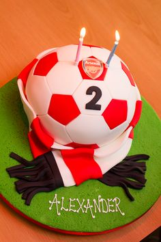 Arsenal football cake-Honest Mum