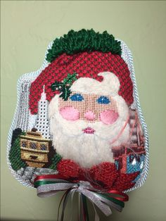 San Francisco Santa head designed by Shelly Tribbey stitched in 2000.