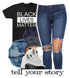 """stop killing us! #BlackLivesMatter"" by trinityannetrinity ❤ liked on Polyvore featuring Chicnova Fashion, CÉLINE and Retrò"