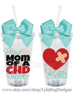Proud Parent of a CHD Warrior 16oz Personalized by LylaBugDesigns, $15.00