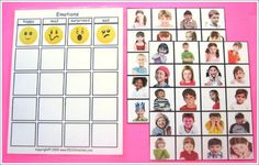 Emotions Feelings Sorting Board Autism from Creative Learning 4 Kidz Autism Resources on TeachersNotebook.com -  (3 pages)  - Emotions Feelings Sorting Board Autism