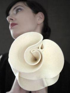 Cream Felt Fascinator Hat Guggenheim Series Made To Order
