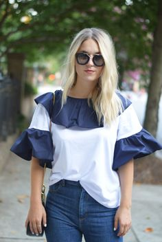 This ruffled @asos top makes it super easy to get ready in the morning!