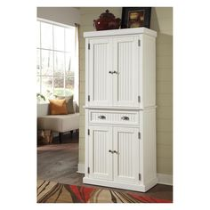 Have to have it. Home Styles Nantucket Pantry - Distressed White - $529.98 @hayneedle