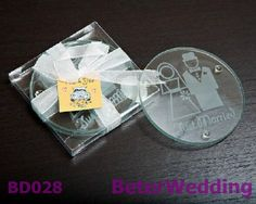 20pcs=10set BeterWedding favor wholesale Bride and Groom glass coaster set BD028        http://www.aliexpress.com/store/product/12box-Seaside-Beach-Candles-in-Coral-Design-Gift-Box-LZ030-Wedding-Gifts-Wedding-Souvenirs/512567_651467667.html    #coaster #coasterset #giftset #partysouvenirs #uniqueweddingfavors  #weddingfavorboxes #candybox #wedding #decoration   淘宝店零售店: http://ShanghaiBridal.Taobao.com =上海倍乐礼品Shanghai Beter Gifts Co Ltd= http://beterwedding.com
