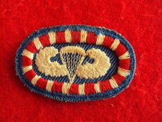 WWII US Army Airborne 127th Engineers Twill Oval