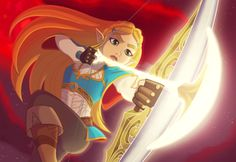 Zelda with the bow of light