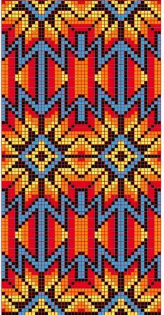 Discover thousands of images about native loom beading patterns Beaded Flowers Patterns, Native Beading Patterns, Beadwork Designs, Native Beadwork, Bead Loom Patterns, Weaving Patterns, Cross Stitch Patterns, Quilt Patterns, Bracelet Patterns