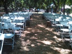 Orchard wedding before flowers