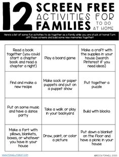 FREE Resources For Families to Use At Home