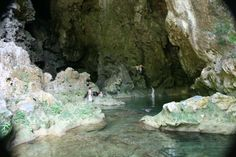 swimming in IZE's Blue Creek cave