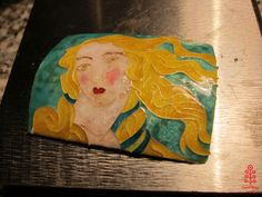 Venere di Botticelli, hot enamel. Photo: smallthingscount