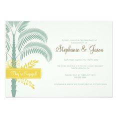 Elegant Palm Tree Engagement Party Invitation