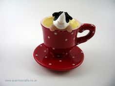 Little Guinea Pig in Spotty Teacup