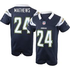 90941afe8 Nike San Diego Chargers Ryan Mathews Newborn Game Romper Jersey San Diego  Chargers
