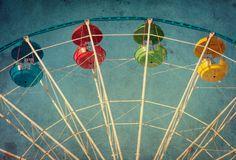 Vintage grunge background with ferris wheel Stock Photos