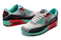 New Nike Air Max 90 Lunar Homme Chaussures Vert Noir Gris