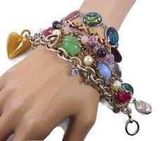 Boho MultiChain Bracelet  Big Statement  by InVintageHeaven, $65.00