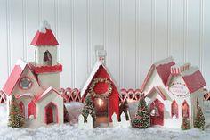 Putz Houses Mom we need to make this for Christmas!