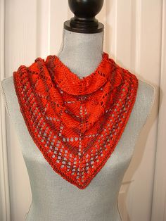 Ravelry: The BLT (Basic Lace Triangle) scarf/shawl is designed for a beginner with the option of beading. It uses a simple repeating pattern and is great for learning how to use a chart. There are no difficult stitches used. The pattern is fully written and charted.