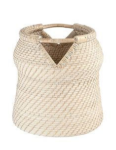 Hand-Woven Rattan Basket with Handles by BD Edition | BURKE DECOR | $200