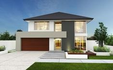 Hermosa fachada casa moderna dos niveles