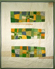 monocramatic crazy quilt strips...huh, i like it