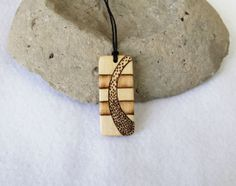 Mens Design Wood Necklace Pendant Natural Jewerly For by SepiaTree, $19.99