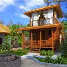 [ Bahay Kubo Designs In The Philippines Blueprint Ofw ] - Best Free Home Design Idea & Inspiration Bamboo House Design, Tropical House Design, Small House Design, Home Design, Design Design, Modern Wooden House, Small Wooden House, Modern Rustic, Building A Wooden House