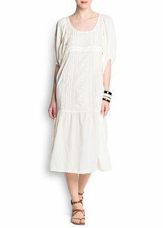 MANGO - Cotton long dress