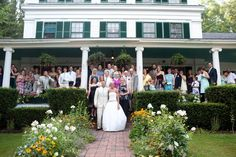 Wedding Group Photo in front of Whitehall Inn