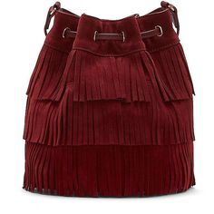 Vince Camuto Joni- Tiered Fringe Cross Body ($228) ❤ liked on Polyvore featuring bags, handbags, shoulder bags, cross body fringe purse, fringe shoulder bag, fringe crossbody, crossbody shoulder bags and red purse