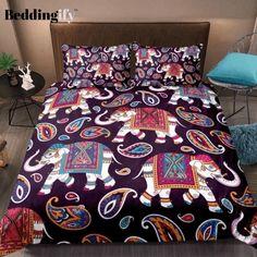 Elephant Bedding, 3d Bedding, Duvet Cover Sizes, Duvet Covers, Bohemian Bedding Sets, Bedclothes, Boho Home, Flat Sheets, Bed Sheets