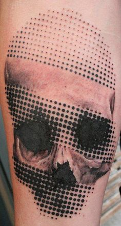 Skull. #tattoo    (Tattoo Art Magazine); this tat gives me an idea for a project
