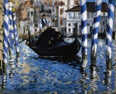 Edouard Manet (French, 1832–1883) | Venice—The Grand Canal (Blue Venice) 1874 | Oil on canvas | Collections of the Shelburne Museum
