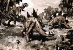 динозавры, Stegosaurus, Зденек Буриан - обои на рабочий стол