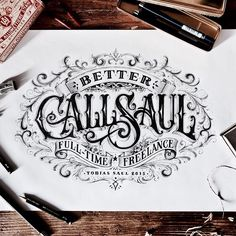 """""""During my free time I worked on this piece, to celebrate the start of my freelance business! Finally done! Better Call Saul!!!  #lettering #drawing…"""""""
