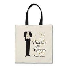 Customize Wedding Party Tote Bags.  www.zazzle.com/designsbydonnasiggy*  #wedding #bride #customize #personalize #zazzle
