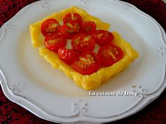 Polentarte à la tomate