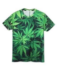 Weed Leaf T shirt Marijuana Cannabis Swag Smoke Huf Raw Rock Hip Hop Unisex Tee