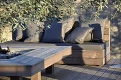 Accueil - Mobilier, salon de jardin OUTDOOR, La gamme SAHARIAN avec sa table à feu chaleur, confort, lumière pour vos extérieurs