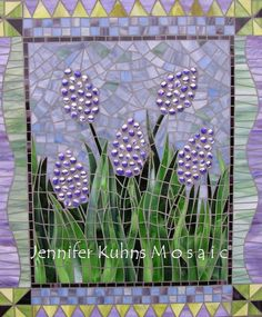 Jennifer Kuhns Mosaic I love the pairing of bubble texture next to smooth flat pieces!